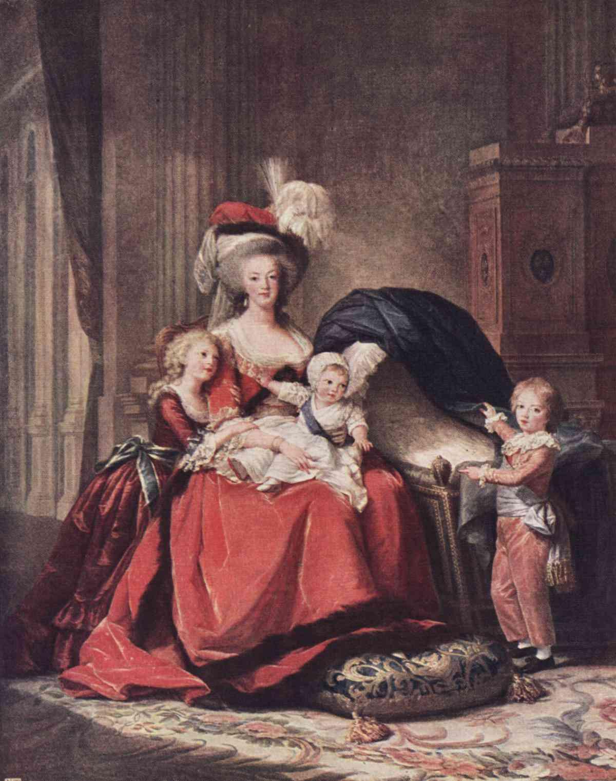 Marie-Antoinette si copii
