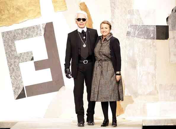 Karl+Lagerfeld+Silvia+Venturini+Fendi