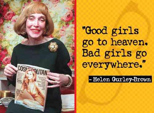 Helen Gurley Brown moda