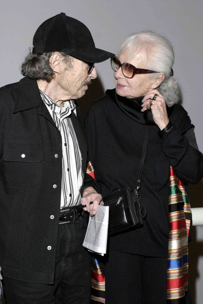 Lillian Bassman and late husband Paul Himmel(passed in 2009) attend the CFDA hosted viewing of MOMA's 'Fashioning Fiction in Photography Since 1990,' on April 22, 2004 in Queens, New York. (Photo by Andrew Kent/Getty Images)