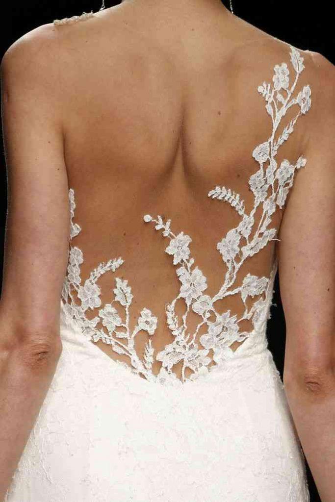 rochie de mireasa efect tatuaj