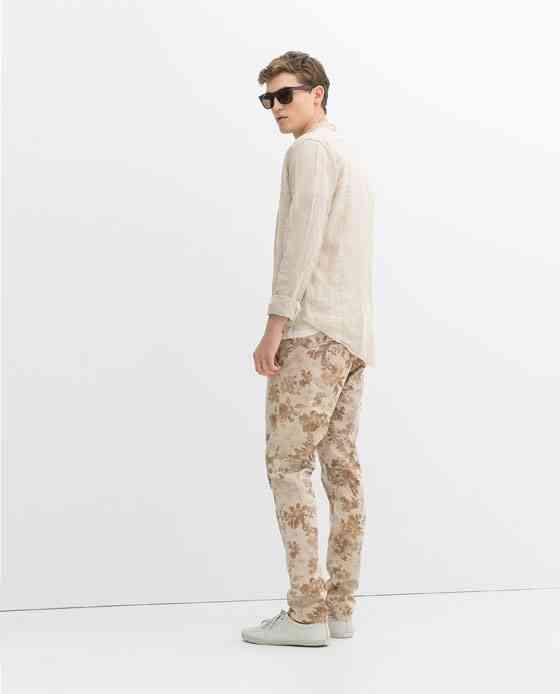 pantaloni imprimeu floral 2016