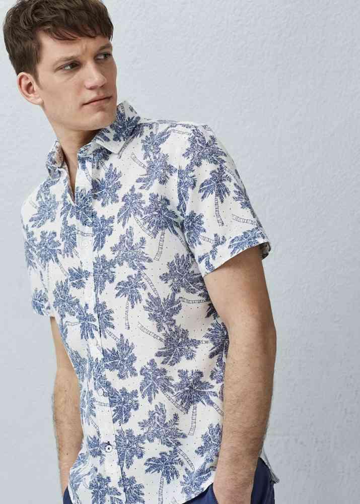 camasa imprimeu tropical