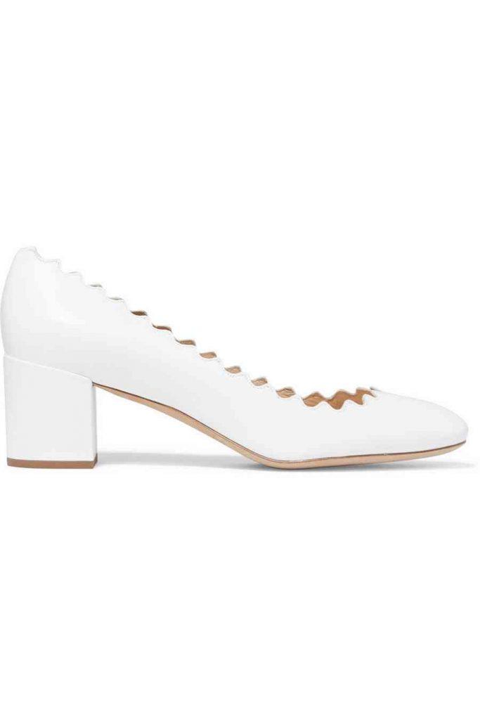pantofi albi chloe