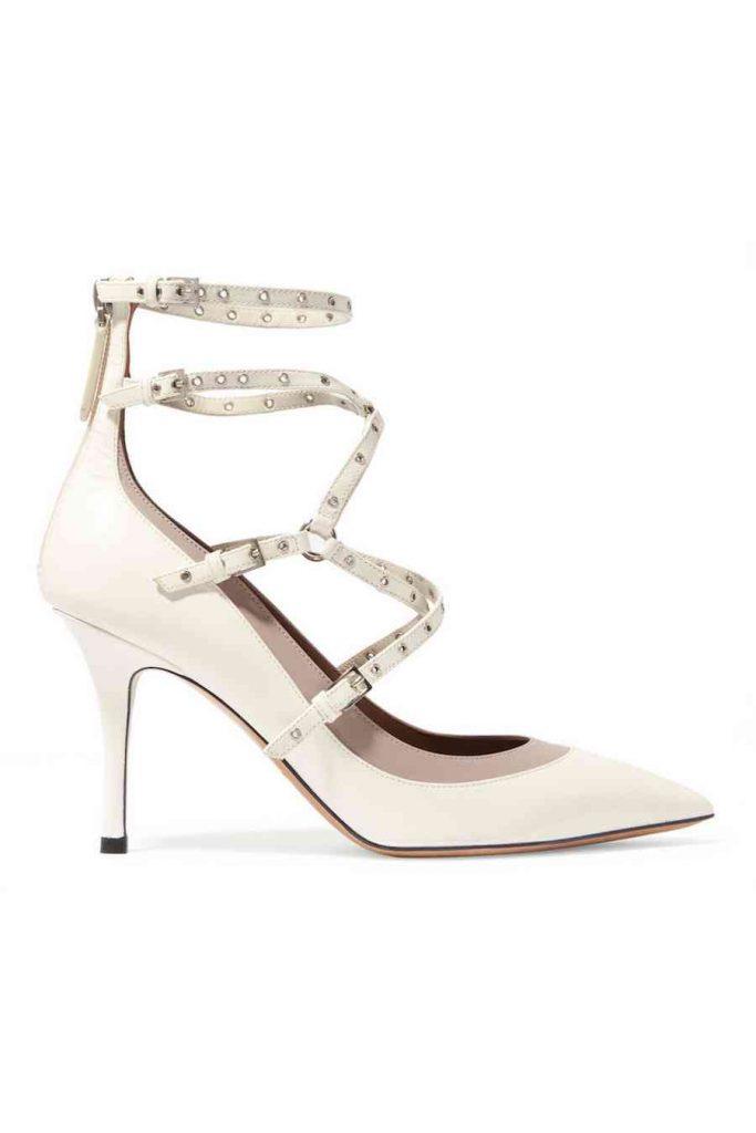 pantofi albi valentino