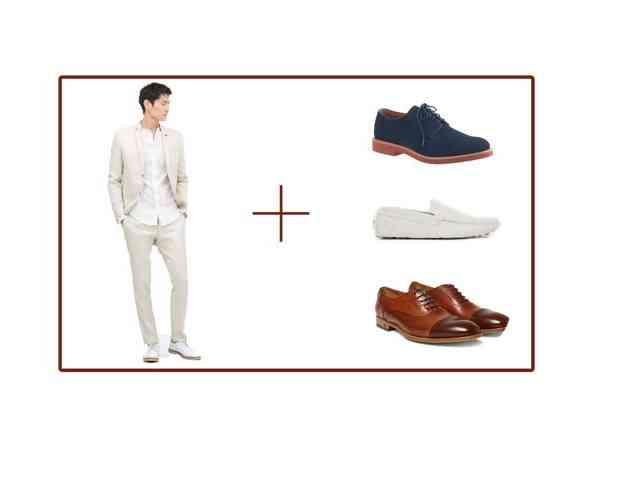 pantofi costum bej