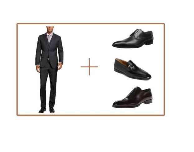pantofi costum gri inchis