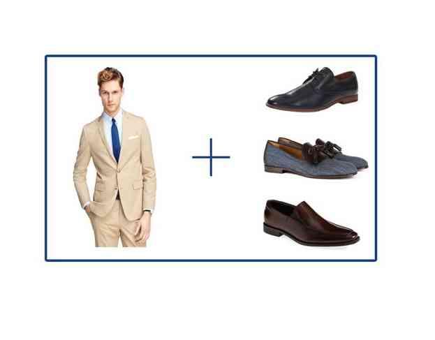 pantofi costum kaki