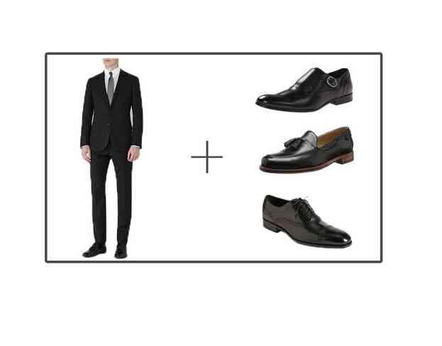 pantofi costum negru