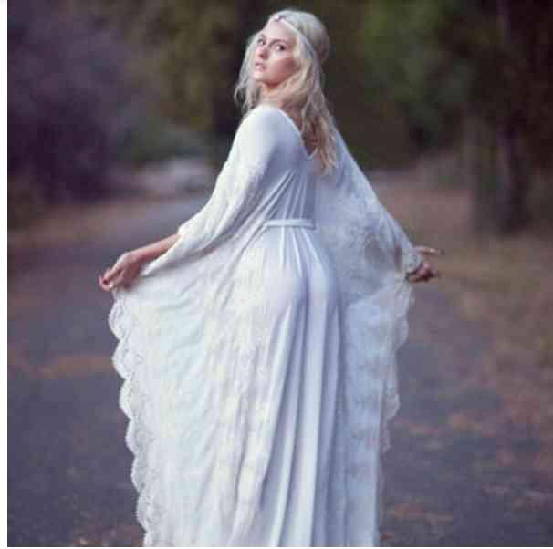 rochie mireasa hippie aripi