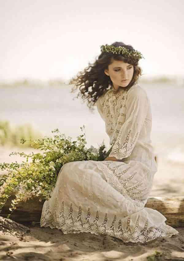 rochie mireasa hippie-vintage