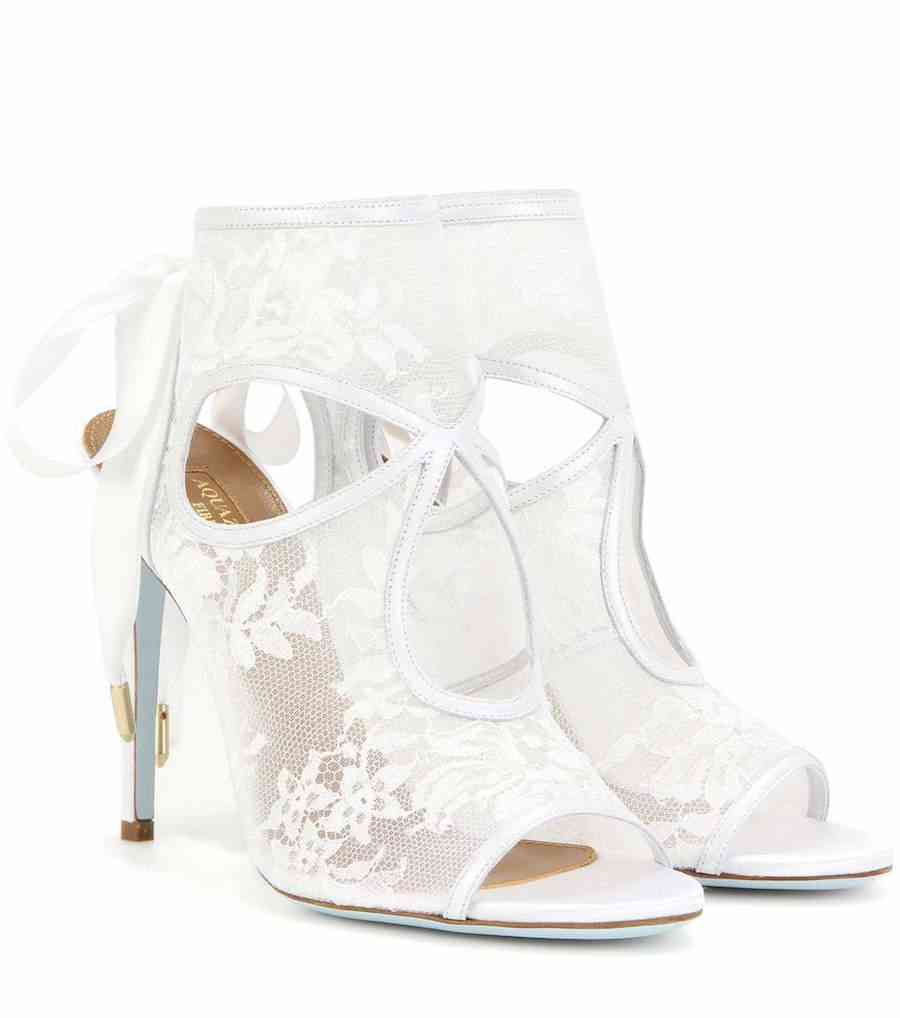 sandale albe aquazzura