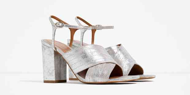 sandale clonate argintii zara