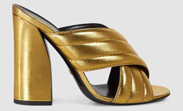 sandale clonate aurii