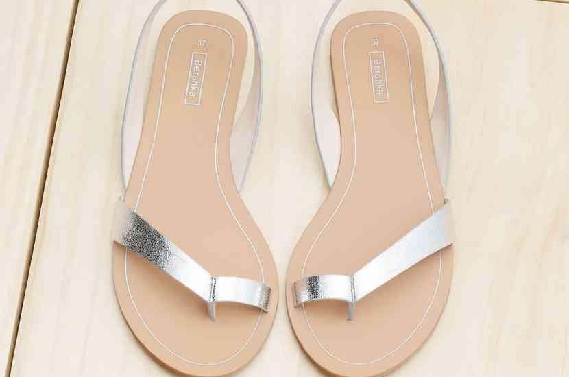 sandale cu deget argintiu