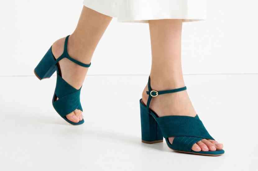 sandale toc lat