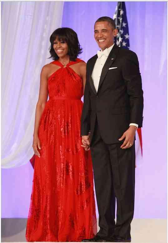 michelle obama rochie rosie