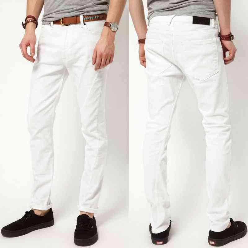 pantaloni albi de barbati