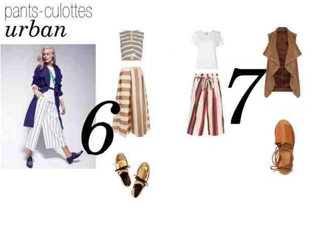 pantaloni culottes stil urban