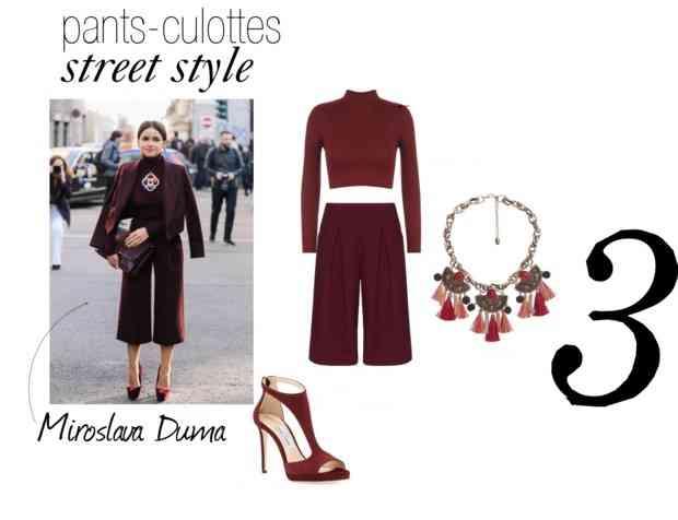 pantaloni culottes street style