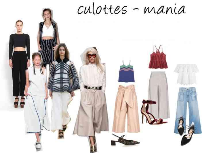 pantaloni culottes