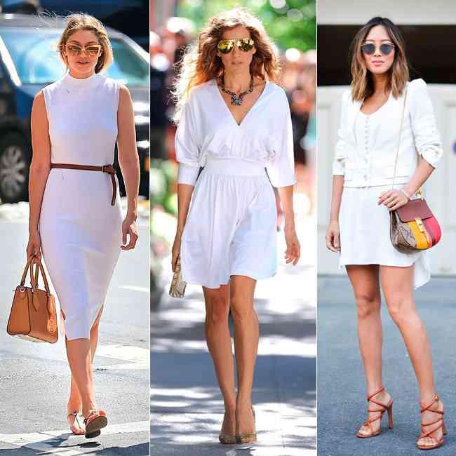 rochii albe de vara