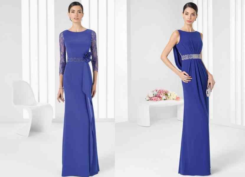 rochii lngi albastru klein