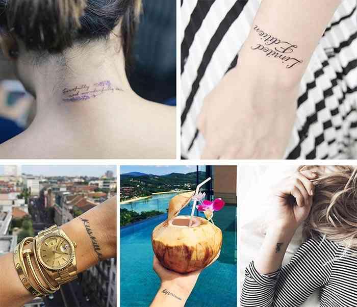 Tatuaje citate inspirationale