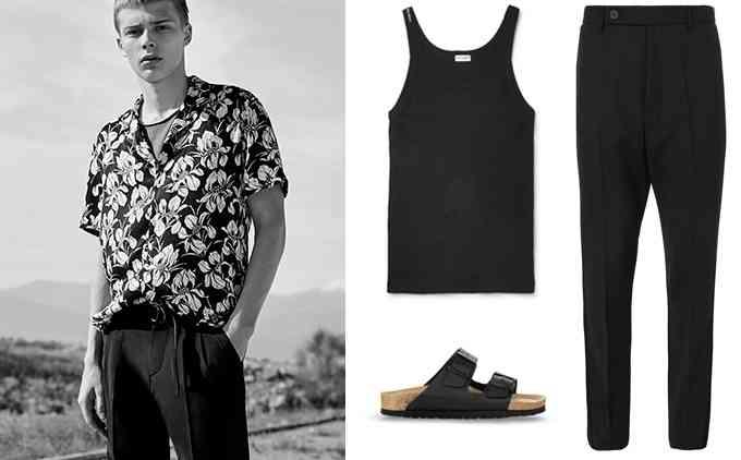 camasa hawaiana +pantaloni