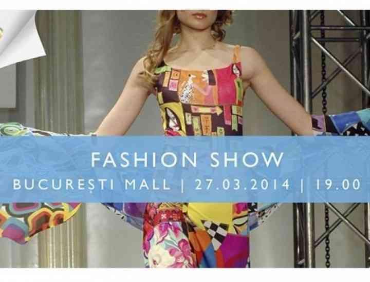 Tendințele primăverii, prezentate printr-un fashion show, într-un mall bucureștean