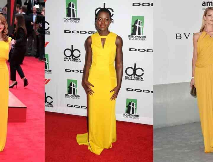 Cele mai frumoase rochii de culoarea soarelui