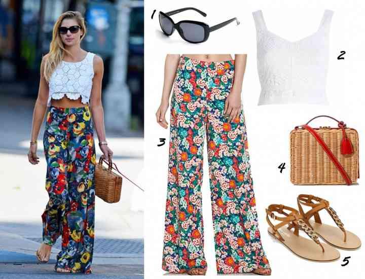 25 de idei în care putem purta o pereche de pantaloni imprimați în această vară