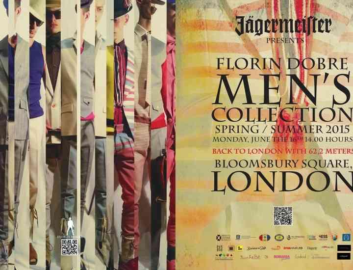 Un designer român prezintă, în Londra, colecţia care omagiază bărbaţii boemi