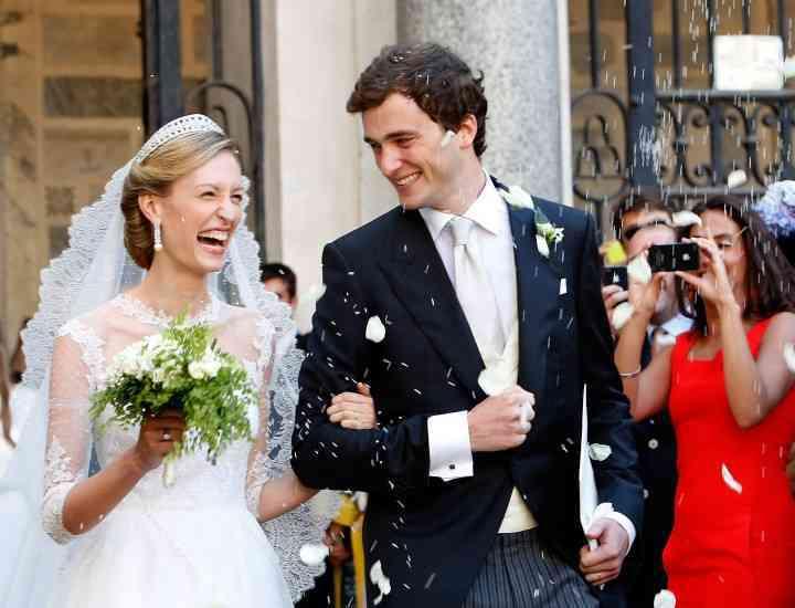 Elisabetta von Wolkenstein a purtat o superbă rochie Valentino la nunta sa cu Prinţul Amedeo al Belgiei