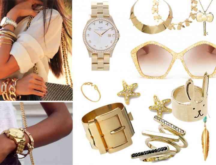 Cum să porți accesoriile aurii, în 2014