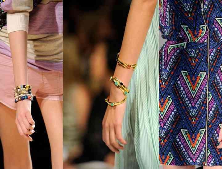 Ce accesorii se poartă în 2014: Brăţările din elastic, la modă anul acesta