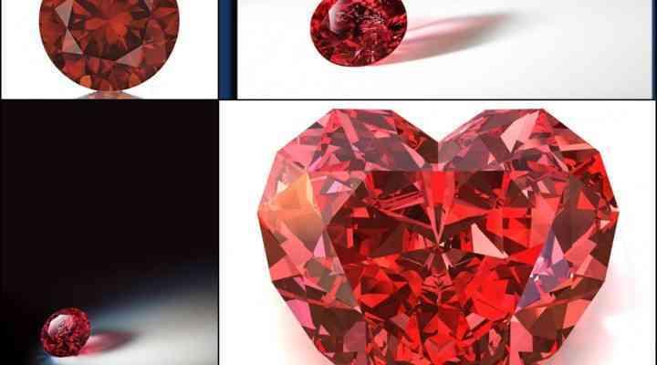 Diamante roșii foarte rare scoase la licitație