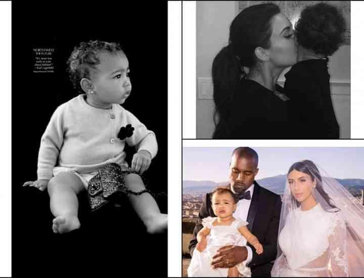 Fiica lui Kim Kardashian a debutat ca model, la doar 13 luni
