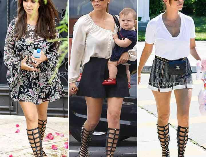 """Sandalele """"Gladiator"""" – modelul preferat al vedetelor în acest sezon"""
