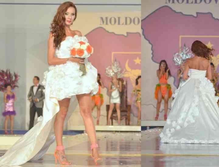 Fotomodelul Oana Craioveanu a îmbrăcat rochia de mireasă
