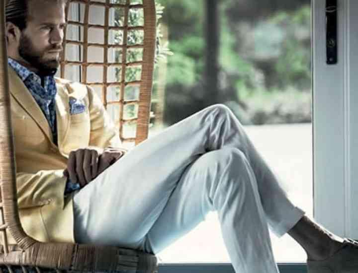 Pantalonii albi- trendul masculin suprem al verii, în 2014. Cum îi asortezi