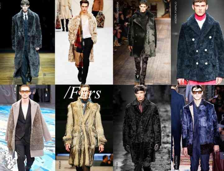 Hainele de blană acaparează moda bărbaților, în sezonul toamnă iarnă 2014