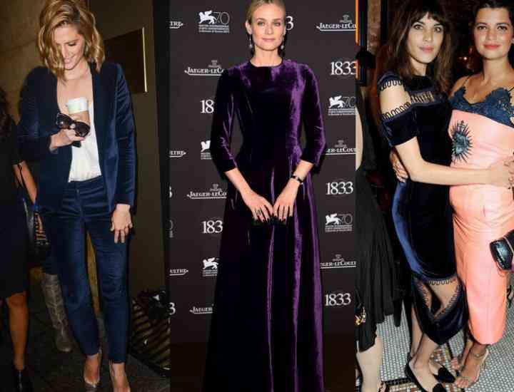 Ce se poartă în toamna 2014: Rochia din catifea, din nou la modă