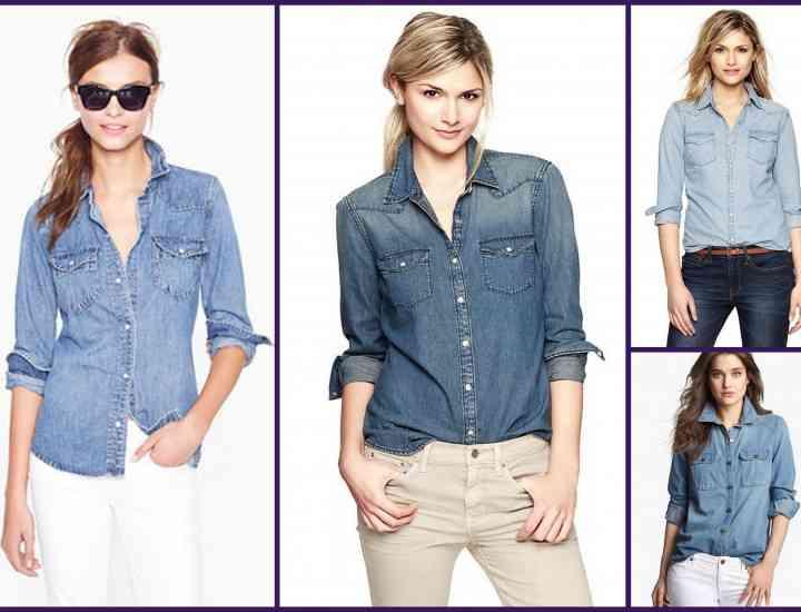 Ce se poartă în toamna 2014 – Cămașa de blugi: Idei de cum poți purta cămașa de blugi