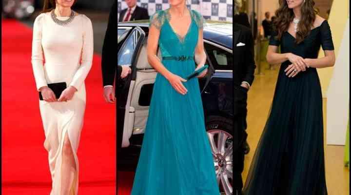 Cele mai frumoase rochii de seară purtate de Kate Middleton