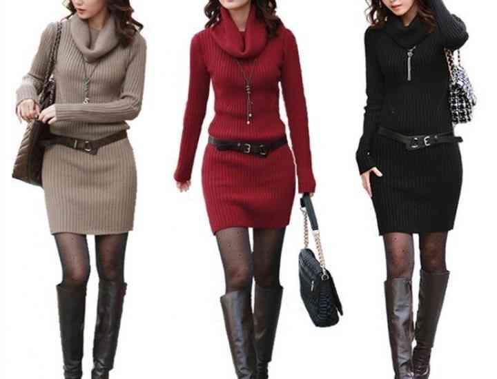 Rochia-pulover, must have în iarna 2014. Modele de rochii-pulover care se poartă în iarna 2014