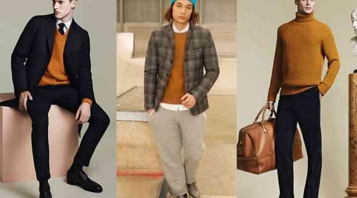 Portocaliul, culoarea la modă în iarna 2014-2015. Piese portocalii la modă pentru bărbaţi