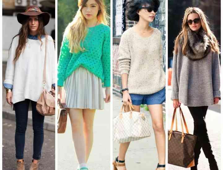Cum să porți un pulover supradimensionat cu mai multe piese vestimentare