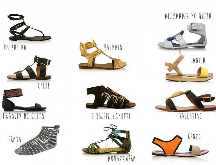 Modele de sandale plate care se poartă în vara 2015