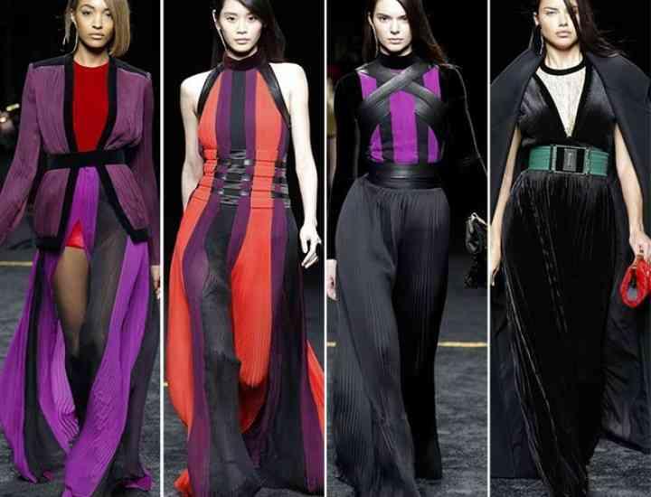 Colecția Balmain toamnă / iarnă 2015-2016 prezentată la Paris Fashion Week